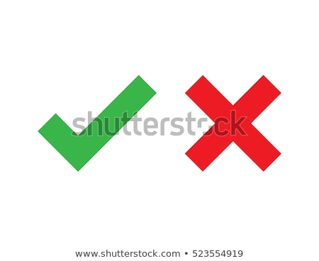 check mark green and red cross. vector Stock photo © Andrei_