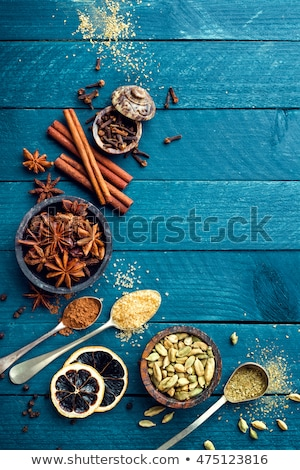 Stockfoto: Culinary Background With Various Spices For Christmas Mulled Wine