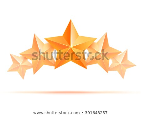 three achievement vector stars realistic sign golden decoration symbol 3d shine icon isolated on stock photo © pikepicture