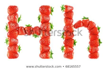 Letra h fresa fuente rojo Berry alfabeto Foto stock © popaukropa
