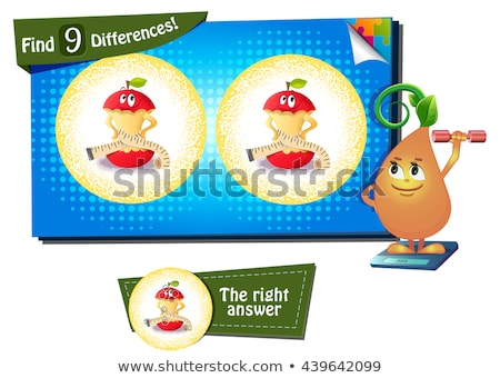 Find 9 differences the funny apple Stock photo © Olena