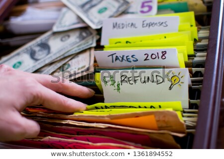 Expense Concept on File Label. Stock photo © tashatuvango