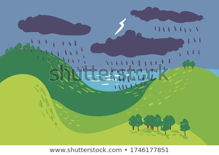 Thunderstorm forest Stock photo © tracer