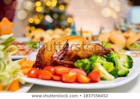Férias natal inverno comida bebidas Foto stock © TanaCh