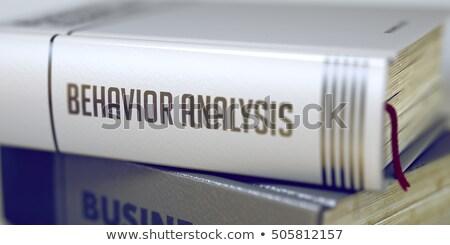 kitap · başlık · analiz · 3D · omurga - stok fotoğraf © tashatuvango