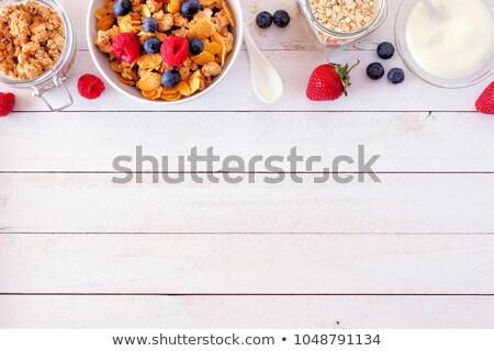 fresh yogurt on wood background Stock photo © M-studio