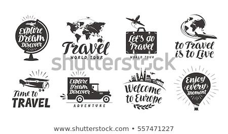 вектора логотип путешествия шаблон отдыха закат Сток-фото © butenkow