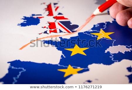 референдум карта Европа флаг цветы Великобритания Сток-фото © vlastas