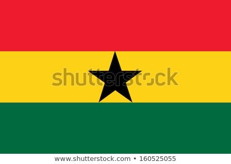 Ghana flag, vector illustration Stock photo © butenkow