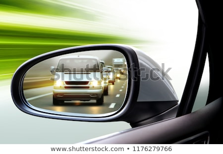 Сток-фото: отражение · движения · сторона · вид · сзади · зеркало