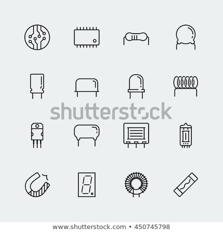 elektrik · devre · hatları · ikon · yonga · yalıtılmış - stok fotoğraf © kup1984