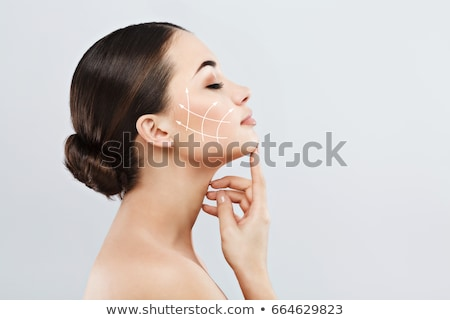 Plastic surgery.  Anti-aging treatment and face lift Stock photo © flisakd