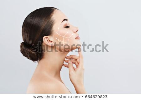 cirurgia · plástica · tratamento · cara · elevador · retrato · feminino - foto stock © flisakd