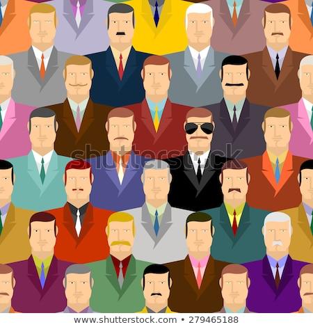 スパイ 人 眼鏡 群集 ベクトル ストックフォト © popaukropa