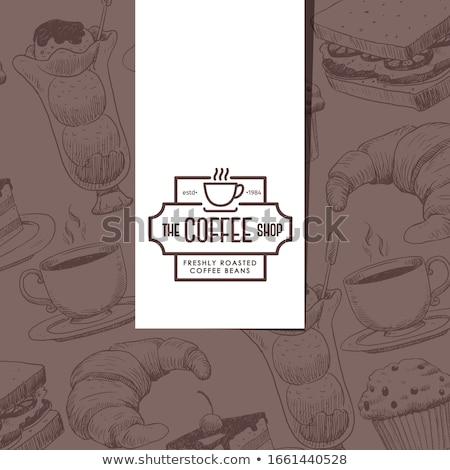 Confeitaria armazenar sorvete emblema cidade compras Foto stock © studioworkstock