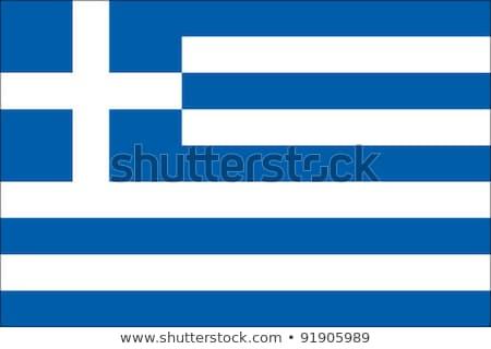 Greece flag, vector illustration Stock photo © butenkow