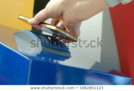 Self-check-in with a barcode reader and printout pass Stock photo © Margolana