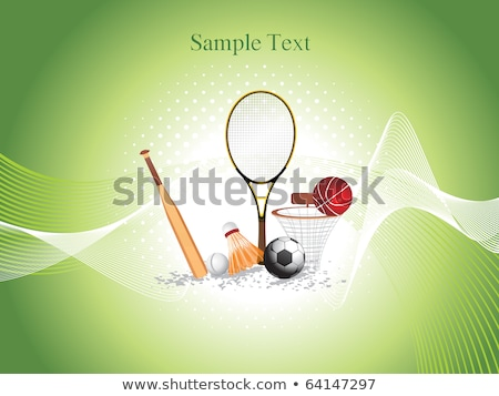 abstract sports grunge based background with football Stock photo © pathakdesigner