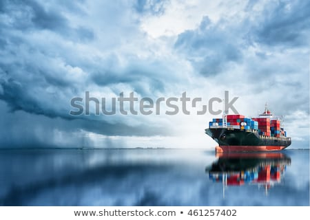 Stock photo: Cargo ship at dock