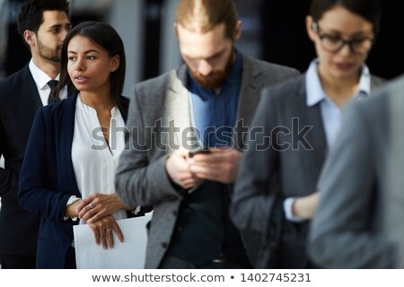 Businessman in a queue Stock photo © IS2