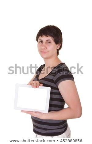 Homme numérique comprimé mode lecture gay Photo stock © wavebreak_media