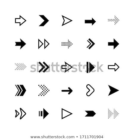 white computer mouse click cursor arrow icons set vector illustration isolated on modern black back stock photo © kyryloff