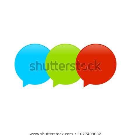 Triple Balloon Callout Symbol Logo Design Stock photo © smith1979