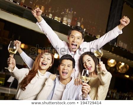 幸せ カップル パーティ 1泊 シンガポール 市 ストックフォト © dolgachov