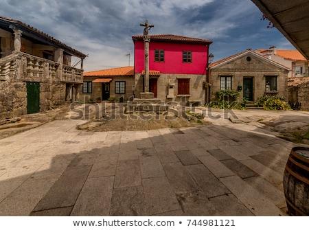Village galice Espagne ciel rue bâtiments Photo stock © lunamarina
