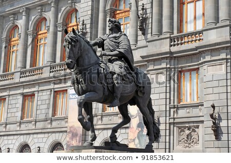 horses on historic centre  square, tourism monument Stock photo © fotoduki