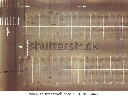 Panorámakép kilátás üres parkolás felső légifelvétel Stock fotó © artjazz