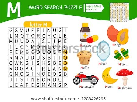 Letra m palavras cruzadas fundo arte desenho jogo Foto stock © bluering