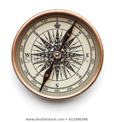 компас изолированный классический спортивное ориентирование белый фон Сток-фото © THP