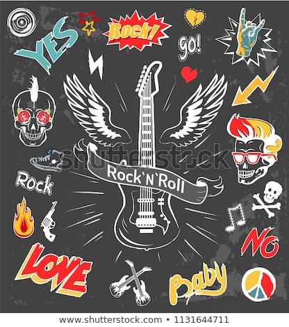 élet · zenekar · játszik · dob · gitár · zene - stock fotó © robuart