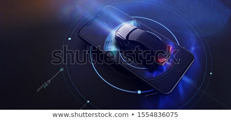 3d render of generic smart mobile phone Stock photo © nasirkhan