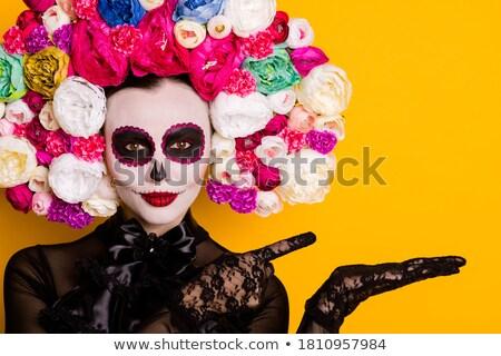 красивая · женщина · волос · сезон · профиль · цветы - Сток-фото © studiostoks