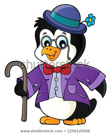 Gestileerde pinguin onderwerp afbeelding gelukkig mode Stockfoto © clairev