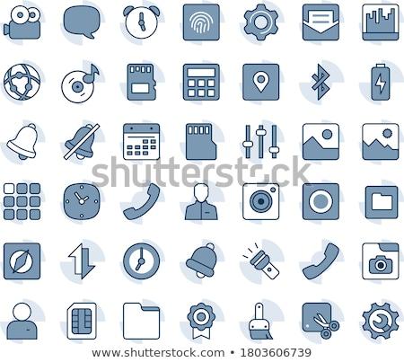 Bleu gris internet ligne cadre vecteur Photo stock © vector1st