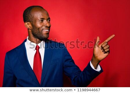 Porträt freudige schöner Mann tragen schwarz Smoking Stock foto © feedough