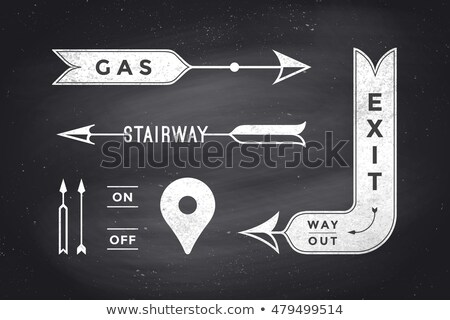Ribbon Exit. Old school ribbon banner with text Exit Stock photo © FoxysGraphic