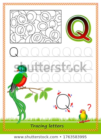 Q is for educational game for children Stock photo © izakowski
