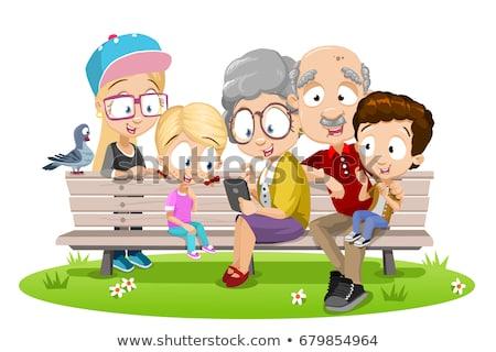 Génération Homme vecteur grand-père père en fils Photo stock © pikepicture