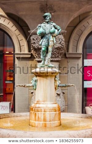 Oca uomo fontana Svizzera dettaglio arte Foto d'archivio © boggy