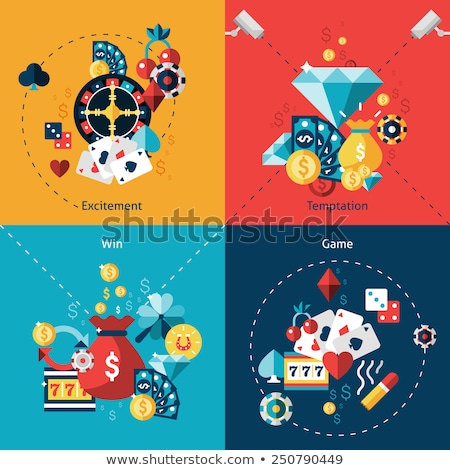 Casino iconen ontwerp web banners Stockfoto © netkov1