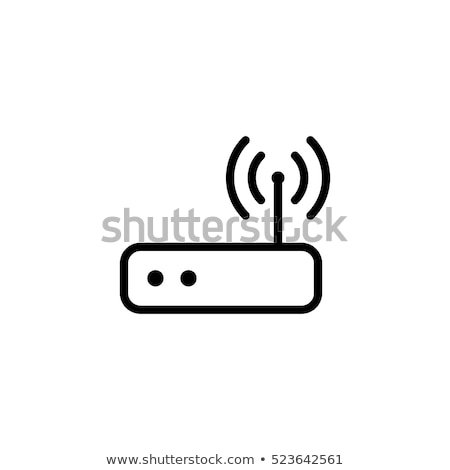 wifi simple icon wireless internet icon vector illustration isolated on white background stock photo © kyryloff