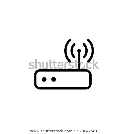 Foto stock: Wi-fi · simples · ícone · sem · fio · internet · isolado