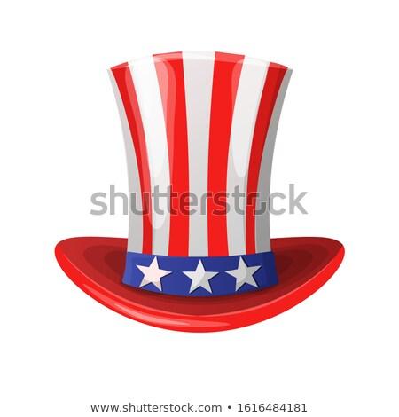 漫画 イラスト 愛国的な アメリカン 先頭 帽子 ストックフォト © hittoon