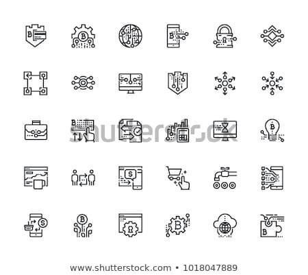Cryptocurrency and Blockchain Flat Icons Stock photo © smoki