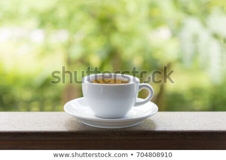 Stock photo: Two scoops on the wooden table