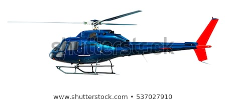 An isolated helicopter on white background Stock photo © bluering